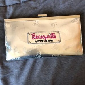 Silver Betsey Johnson Clutch